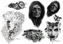 Köp fake tatueringar designade av tatuerare flash 1 av Kain - Like ink
