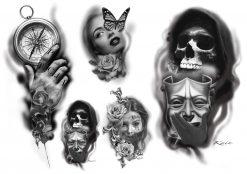 Köp gnuggisar & fake tattoosflash 1 av Kain - Like ink
