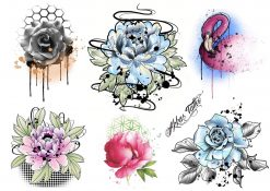 Köp Gnuggisar & fake tattoos flash 2 av Annica - Like ink