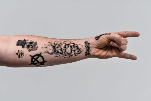 Döskelletatuering fake tattoo