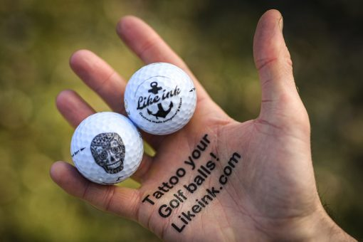 Märk dina golfbollar med gnuggisar & fake tattoos - Like ink