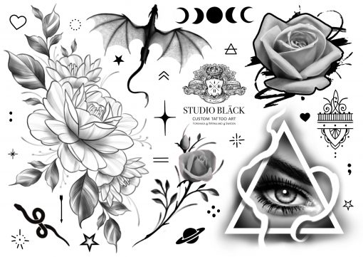 låtsas tatuering olika motiv